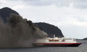 incendio hurtigruten