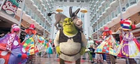 Shrek y Royal Caribbean