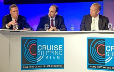 Los CEOs de Carnival, Royal Caribbean y Celebrity en el Cruise Shipping Miami