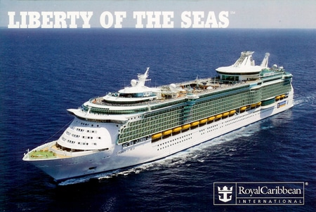 Postal oficial del Liberty of the Seas Bautismo del Liberty of the Seas de Royal Caribbean (18 mayo 2007) - CruceroAdicto.com