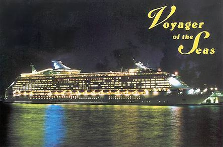 Postal oficial del Voyager of the Seas de Royal Caribbean