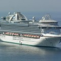 El buque Emerald Princess antes de su entrega a Princess Cruises