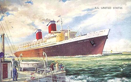 Postal oficial del SS United States