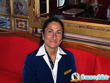 Guest Relations Manager Cinzia Elisa