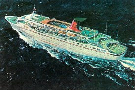 Cunard anuncia el debut del Cunard Countess (29 julio 1976)