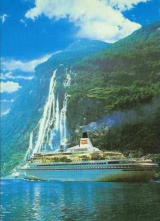 Postal oficial del Royal Viking Star, de royal Viking Line