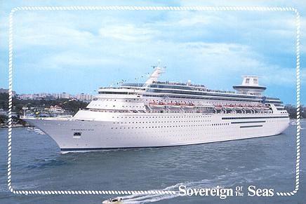 Postal oficial del Sovereign of the Seas, actual Sovereign de Pullmantur