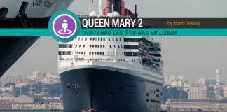 visitando el Queen Mary 2 en Lisboa