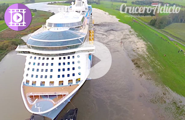 Impresionante Video del Quantum of the Seas remontando los estrechos canales