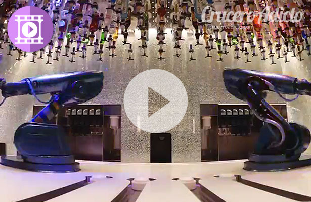 Espectacular vídeo de los camareros robots del Quantum of the Seas