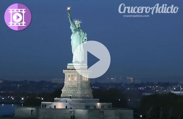 Gran Video del Quantum of the Seas llegando a New York