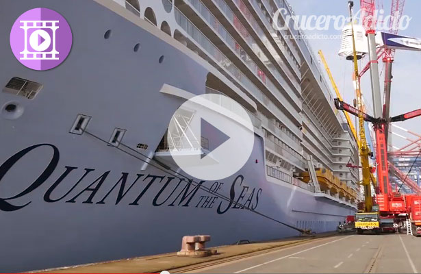 Gran Vídeo del Quantum of the Seas montando el North Star