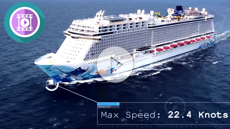 Vídeo del Norwegian Escape en mar abierto