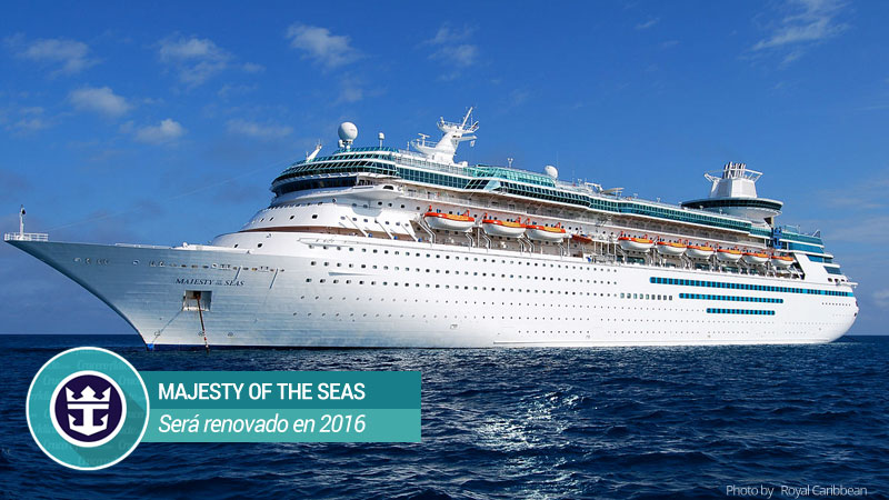Majesty of The Seas será renovado en 2016