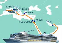 Diario del Ovation of the Seas desde Barcelona a Dubai