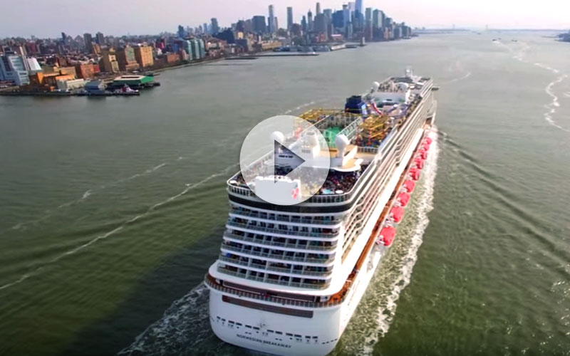salida del Norwegian Breakaway en New York