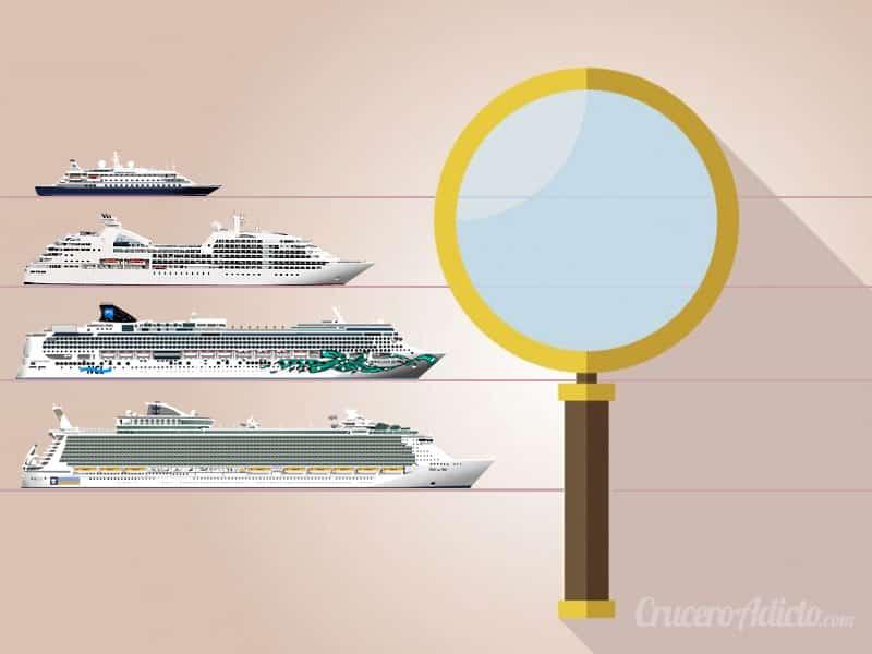 Tipos de barcos de Crucero