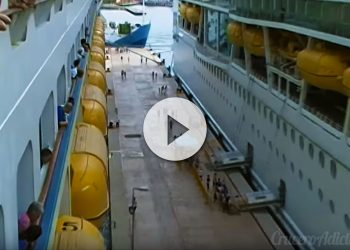 Abucheo a cruceristas llegan tarde Colocada la quilla del Anthem of the Seas - CruceroAdicto.com