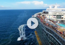 Allure of the Seas perseguido por un drone