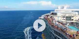 Allure of the Seas perseguido por un drone