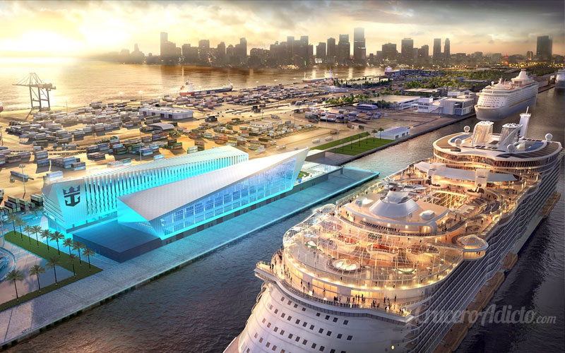 Symphony of the Seas en Miami Symphony of the Seas en Miami estrenará nuevo Terminal de Cruceros - CruceroAdicto.com