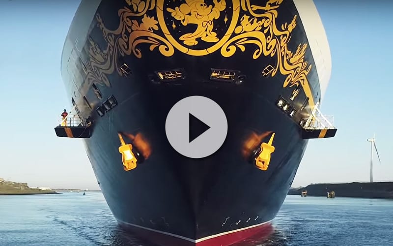 vídeo de barco de crucero Disney Magic