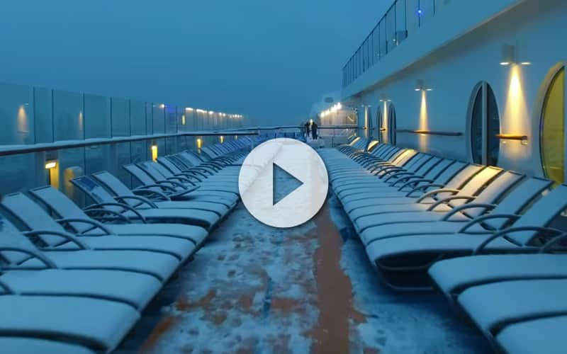 Anthem of the Seas cubierto de nieve