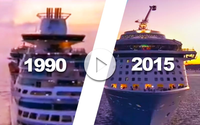 anuncio para TV de Royal Caribbean