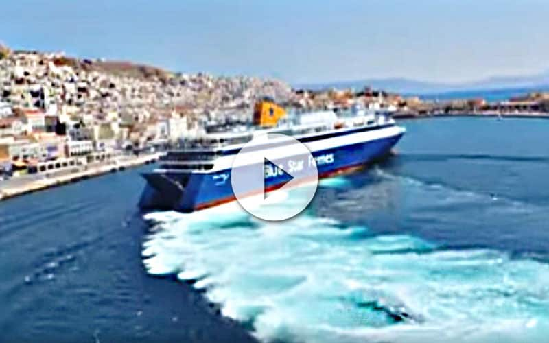 Vídeo de ferry griego