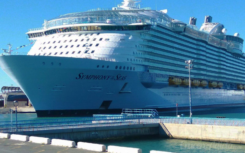 Symphony of the Seas se presenta al mundo, Symphony of the Seas, Royal Caribbean, Malaga - Symphony of the Seas se presenta al mundo en el puerto de Málaga - CruceroAdicto.com