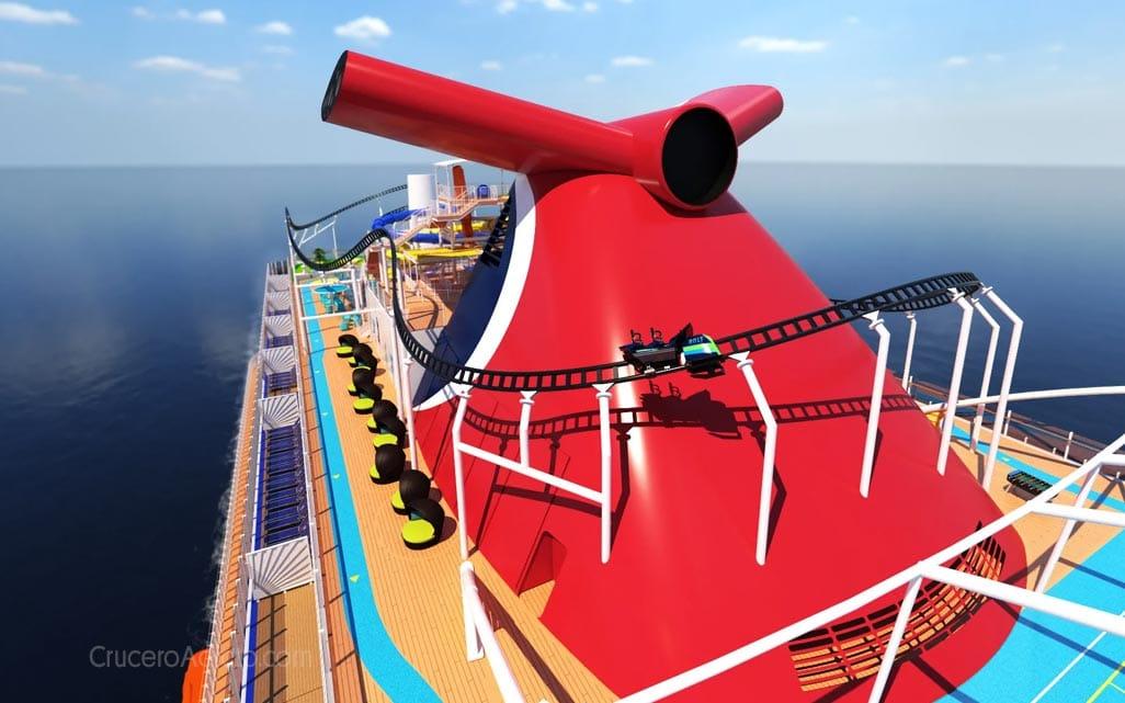 Bolt Carnival Mardi Gras Nuevo barco de Carnival tendrá la primera montaña rusa en un crucero - CruceroAdicto.com