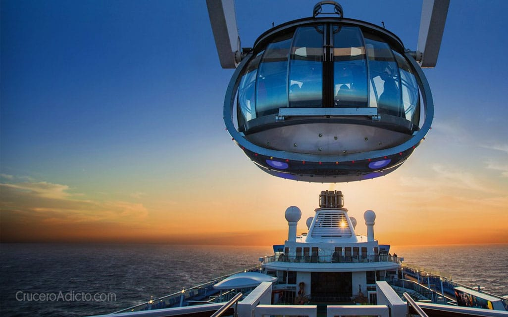 North Star en Quantum of the Seas Royal Caribbean comienza a cobrar por algunas atracciones a bordo - CruceroAdicto.com